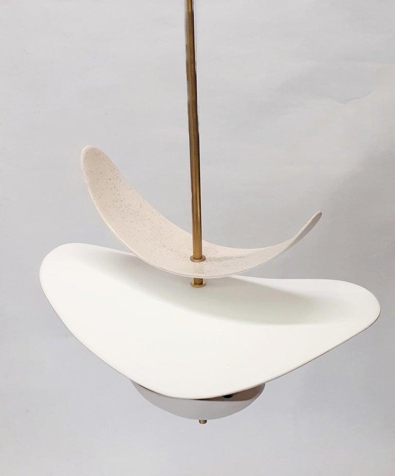 French Sculptural Handmade Ceramic Light For Sale
