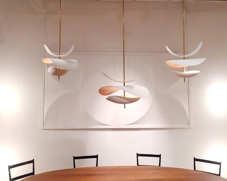 Contemporary Sculptural Handmade Ceramic Light For Sale