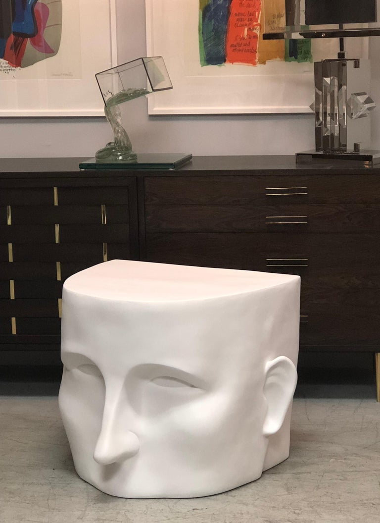 Sculptural Head Architectural Table Bench, 1980s For Sale 3