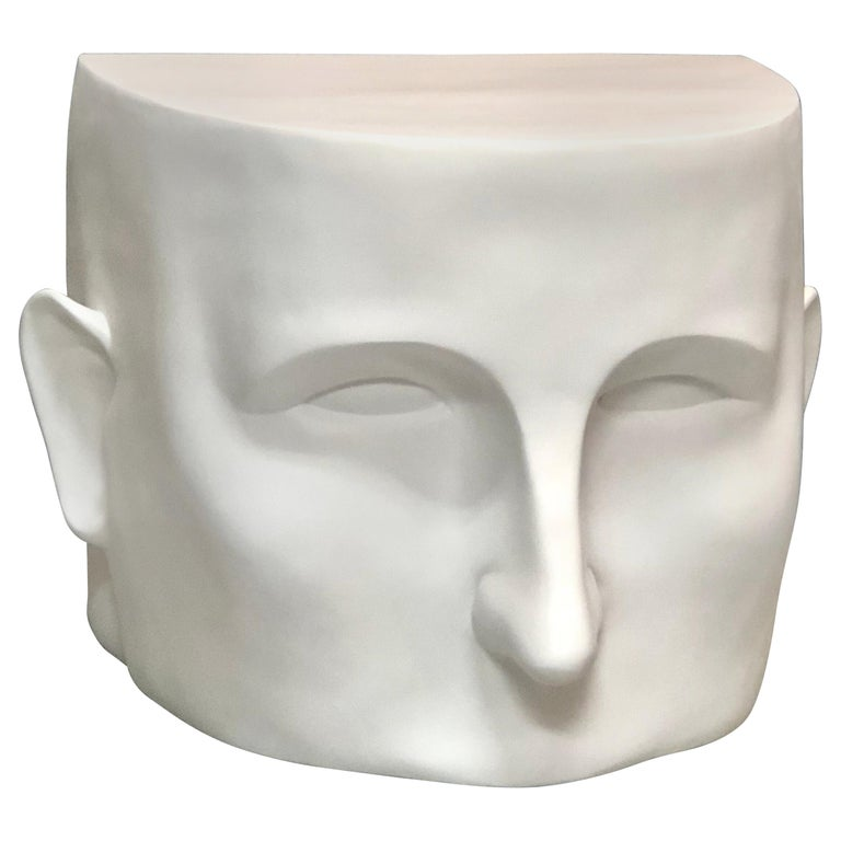 Sculptural Head Architectural Table Bench, 1980s For Sale