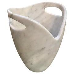 Sculptural Ice Bucket in Carrara Marble, Italy