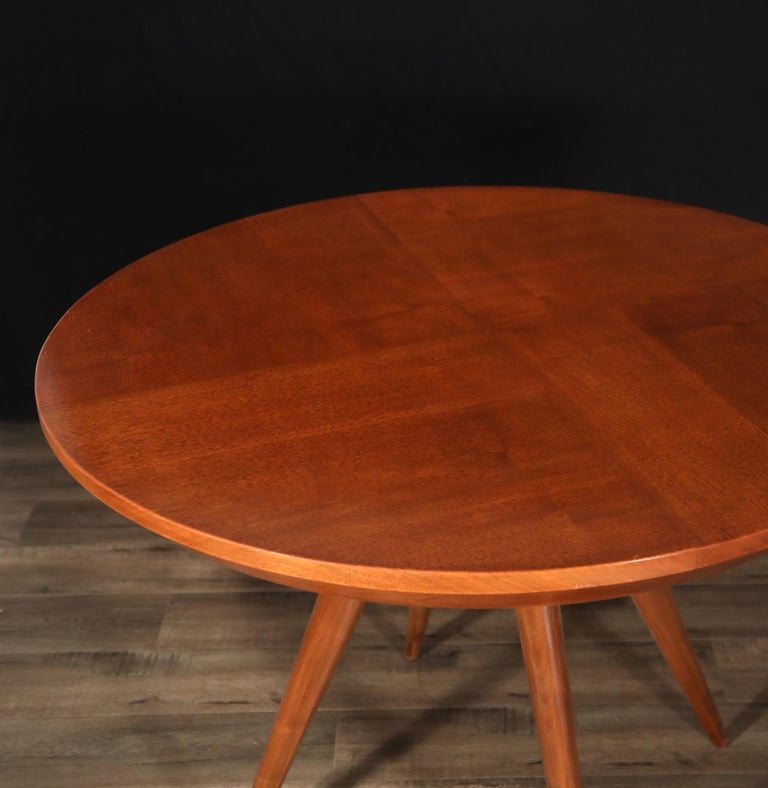 Sculptural Inlaid Walnut Parquetry Dining Table by Vladimir Kagan Designs For Sale 5