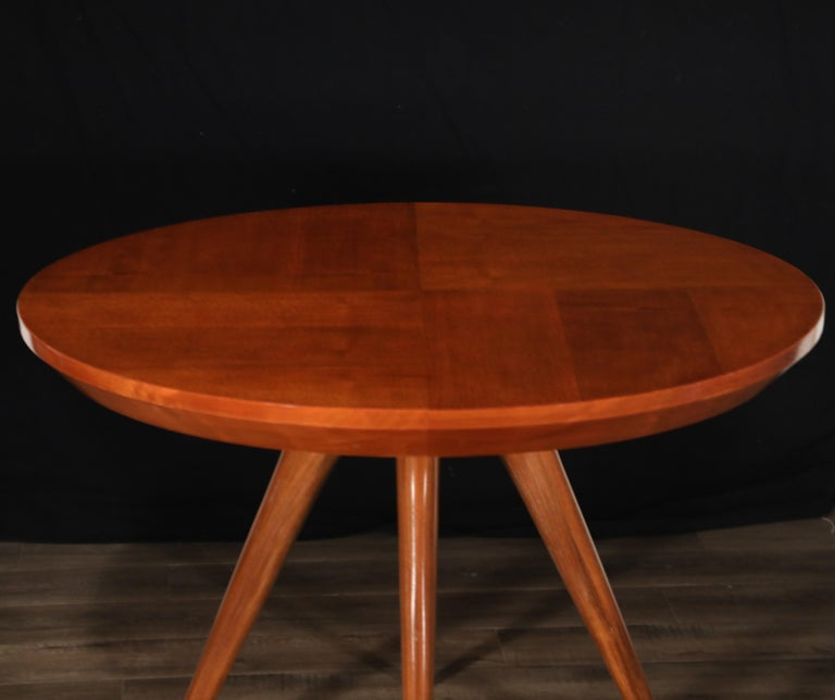 Sculptural Inlaid Walnut Parquetry Dining Table by Vladimir Kagan Designs For Sale 6