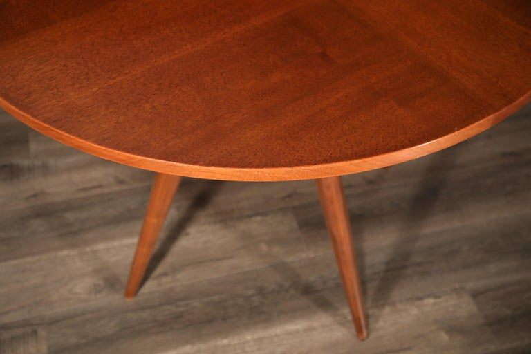 Sculptural Inlaid Walnut Parquetry Dining Table by Vladimir Kagan Designs For Sale 9