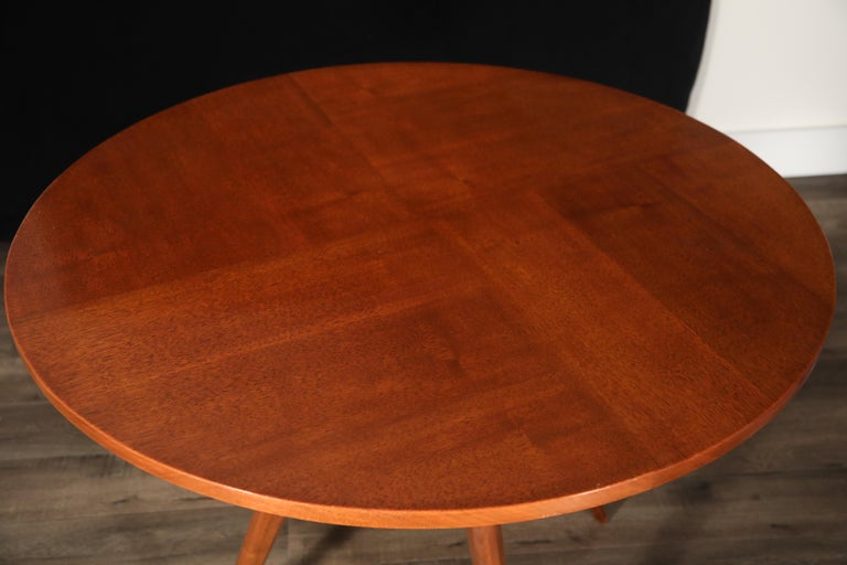 Sculptural Inlaid Walnut Parquetry Dining Table by Vladimir Kagan Designs For Sale 11