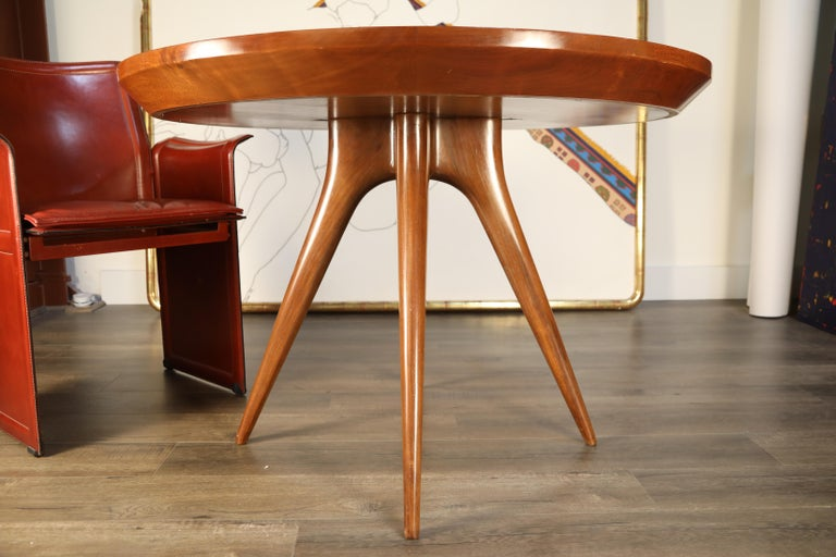 Sculptural Inlaid Walnut Parquetry Dining Table by Vladimir Kagan Designs For Sale 12