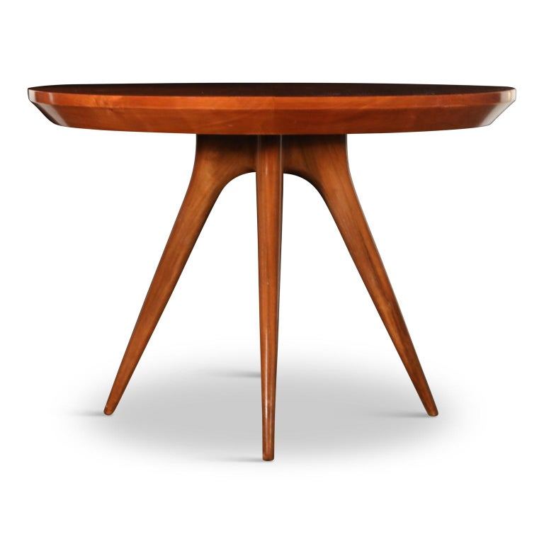 American Sculptural Inlaid Walnut Parquetry Dining Table by Vladimir Kagan Designs For Sale