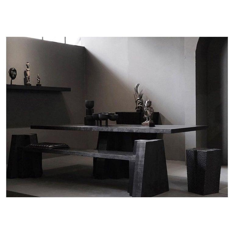 Sculptural Iroko Bench, Arno Declercq For Sale 1
