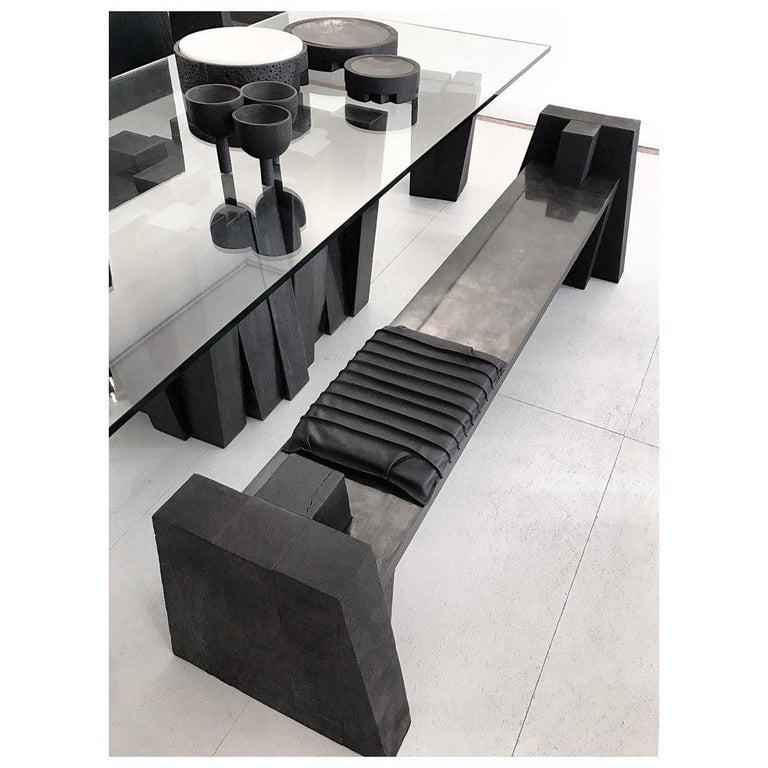Sculptural Iroko Bench, Arno Declercq For Sale 2