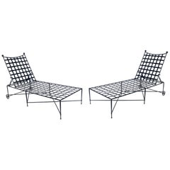 Sculptural Iron Chaise Lounges by Salterini
