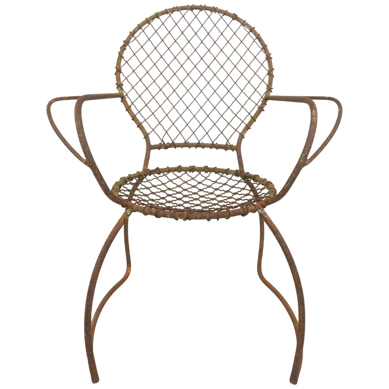 Sculptural Iron Garden Chair
