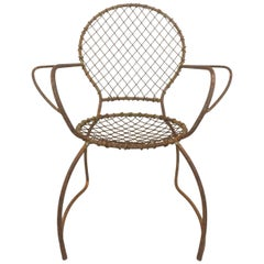 Sculptural Iron Garden Chair