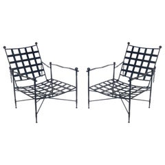 Sculptural Iron Lounge Chairs by Salterini