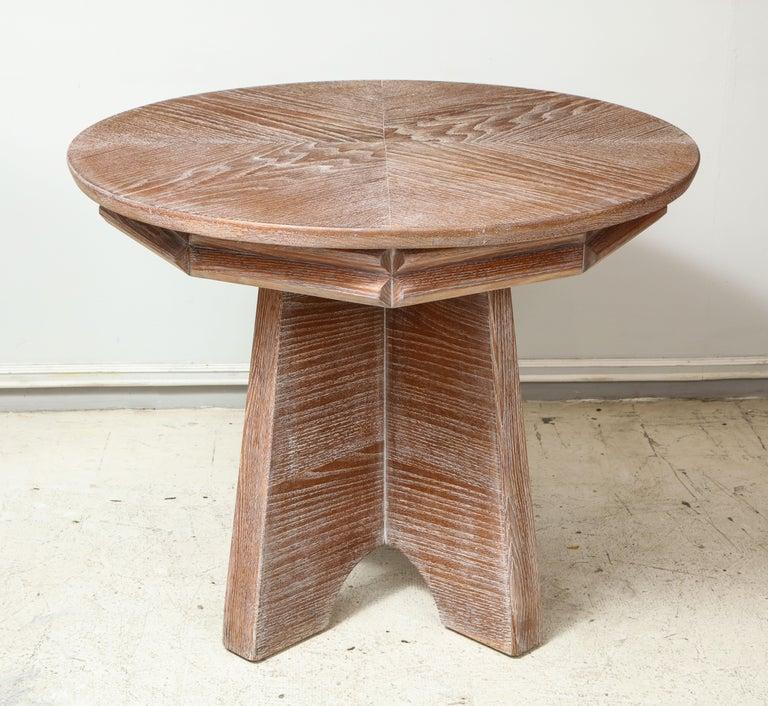Modern Sculptural  Italian Cerused Oak Center Table For Sale