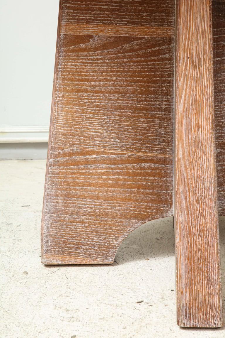Sculptural  Italian Cerused Oak Center Table For Sale 3