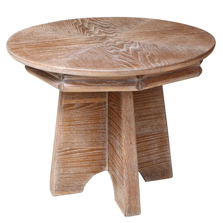 Sculptural  Italian Cerused Oak Center Table For Sale