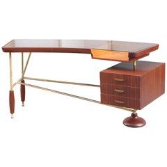 Sculptural Italian Modernist Desk