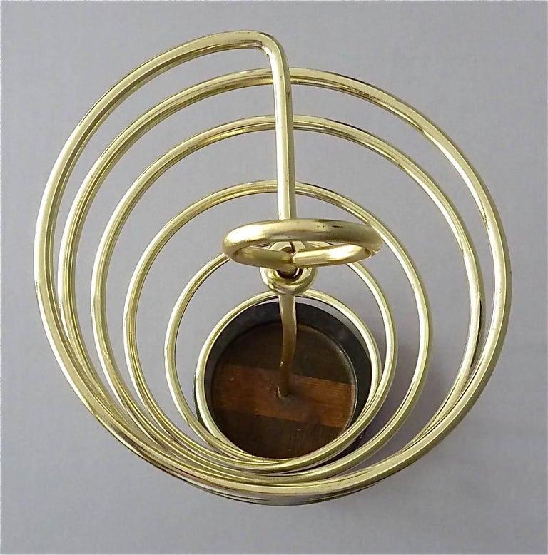 Sculptural Italian Umbrella Stand Golden Anodized Aluminum Spiral Iron, 1950s For Sale 4