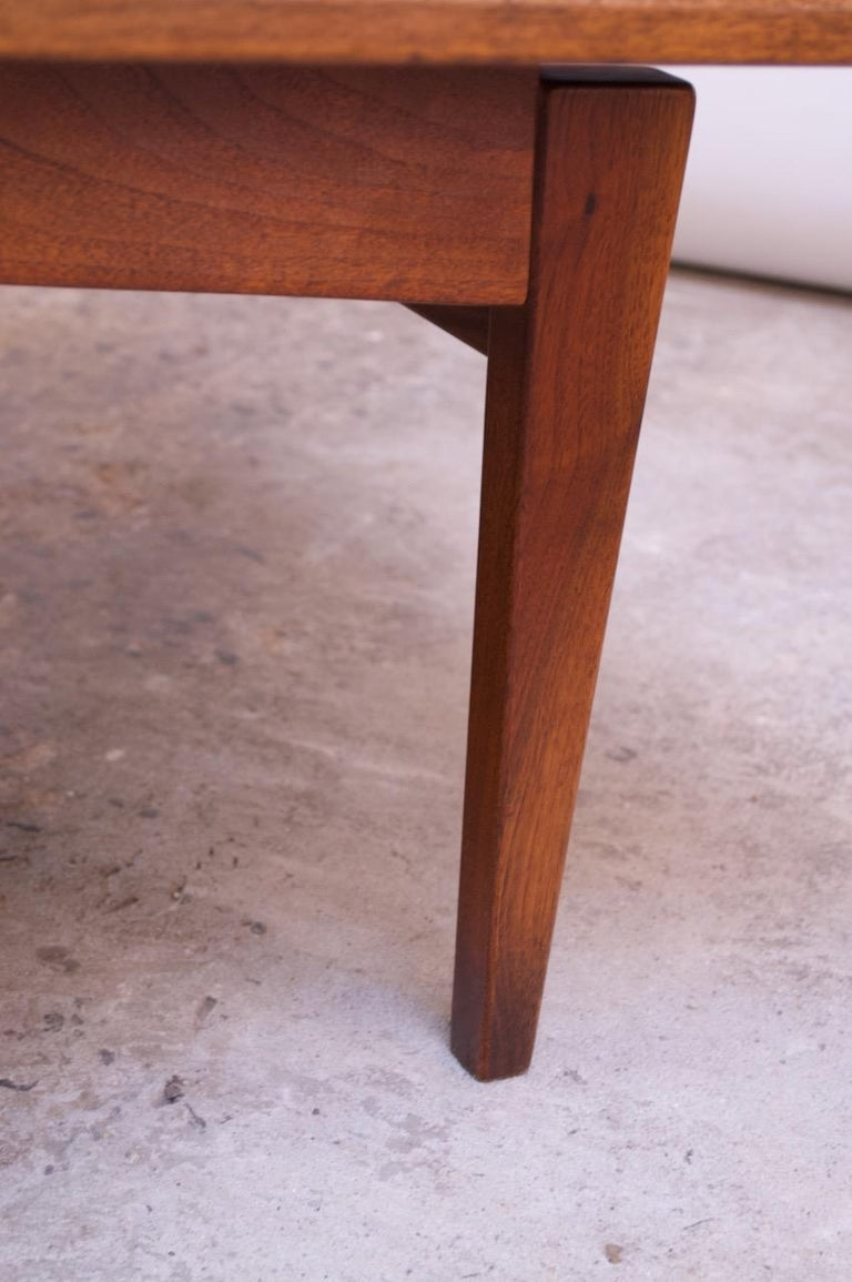 Sculptural Jens Risom Walnut Coffee Table For Sale 3