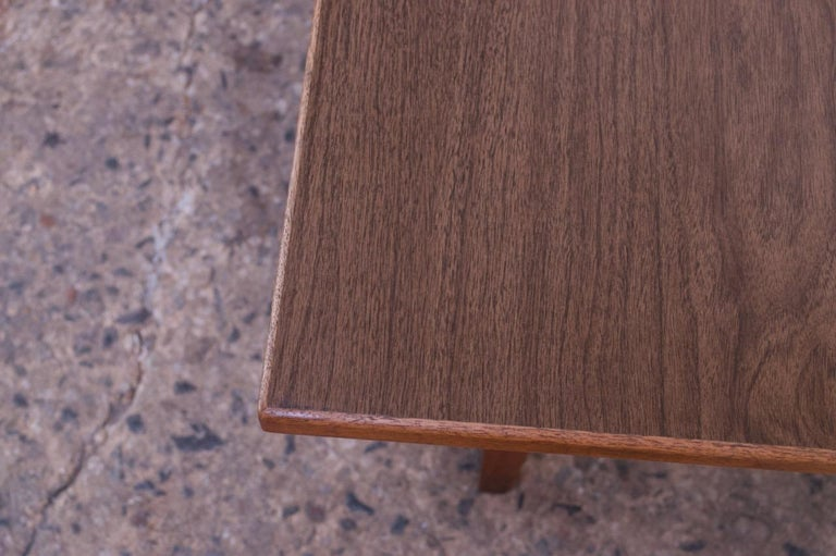 Sculptural Jens Risom Walnut Coffee Table For Sale 6