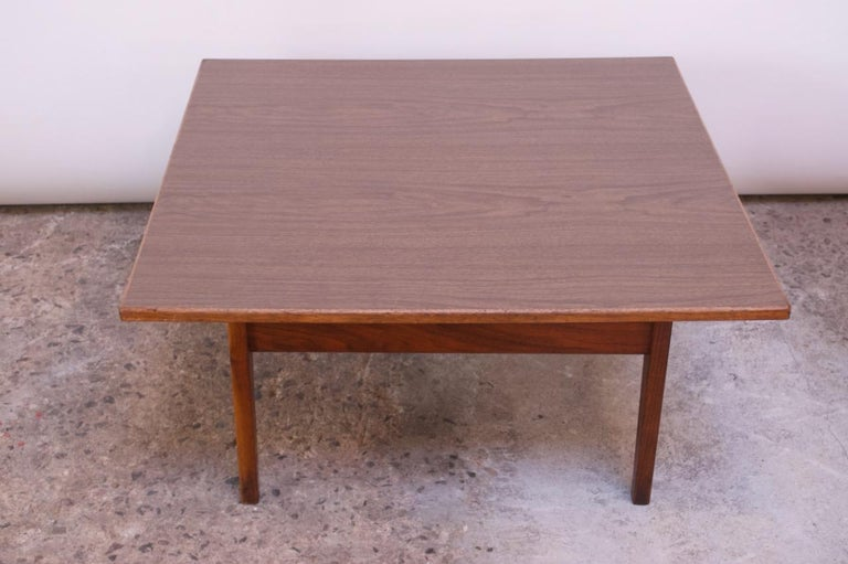 Sculptural Jens Risom Walnut Coffee Table For Sale 2