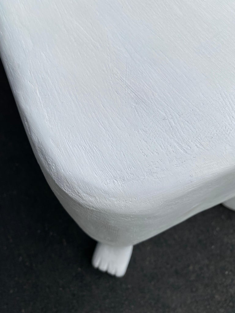 Sculptural John Dickinson Footed Side End Coffee Tables, Plaster White Pair For Sale 5
