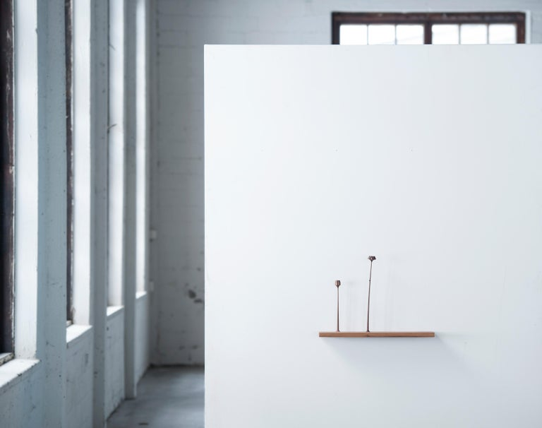 Scandinavian Modern Sculptural Kukkii Shelf in Walnut by Antrei Hartikainen For Sale