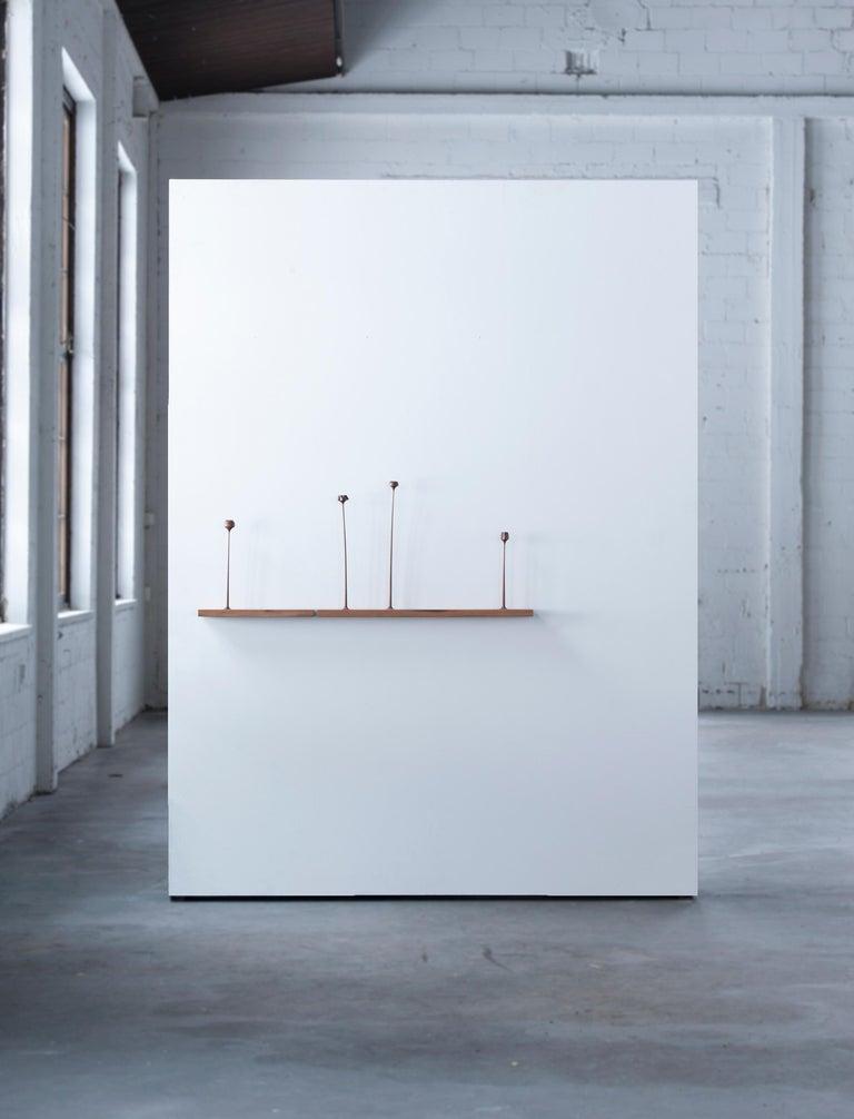 Finnish Sculptural Kukkii Shelf in Walnut by Antrei Hartikainen For Sale