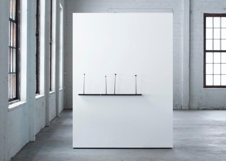 Sculptural Kukkii Shelf in Walnut by Antrei Hartikainen For Sale 2