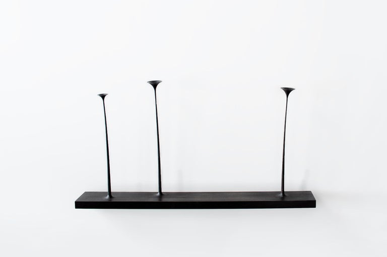 Kukkii(blooms) is a unique collection of slender-stemmed, wooden flowers and plants which, variously grouped, capture the moment of calm and freedom sometimes experienced in nature. The sculptural groups may be positioned on windowsill, or wall
