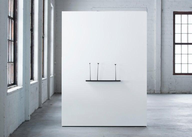 Scandinavian Modern Sculptural Kukkii Shelf in Black Stained Oak by Antrei Hartikainen For Sale