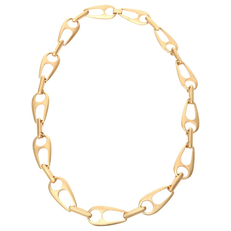Sculptural Link Necklace Attributed to Alexis Kirk For Sale