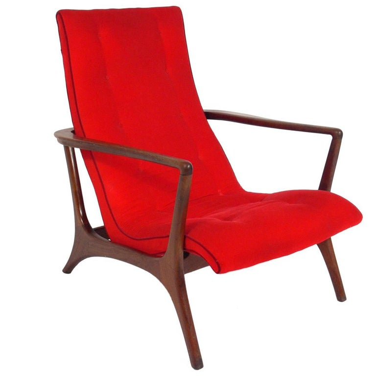 Sculptural Lounge Chair Attributed to Vladimir Kagan