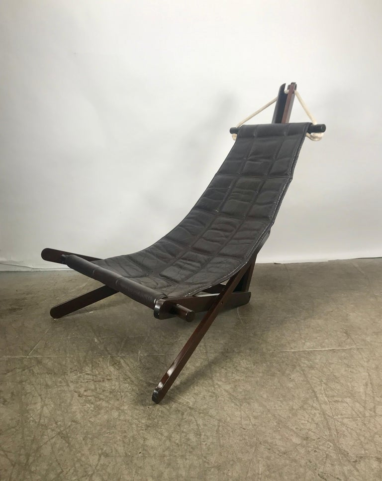 Mid-Century Modern Sculptural Lounge Sling, Dominic Michaelis