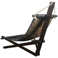 "Sculptural Lounge Sling, Dominic Michaelis ""Sail Chair"" for Moveis Corazza"