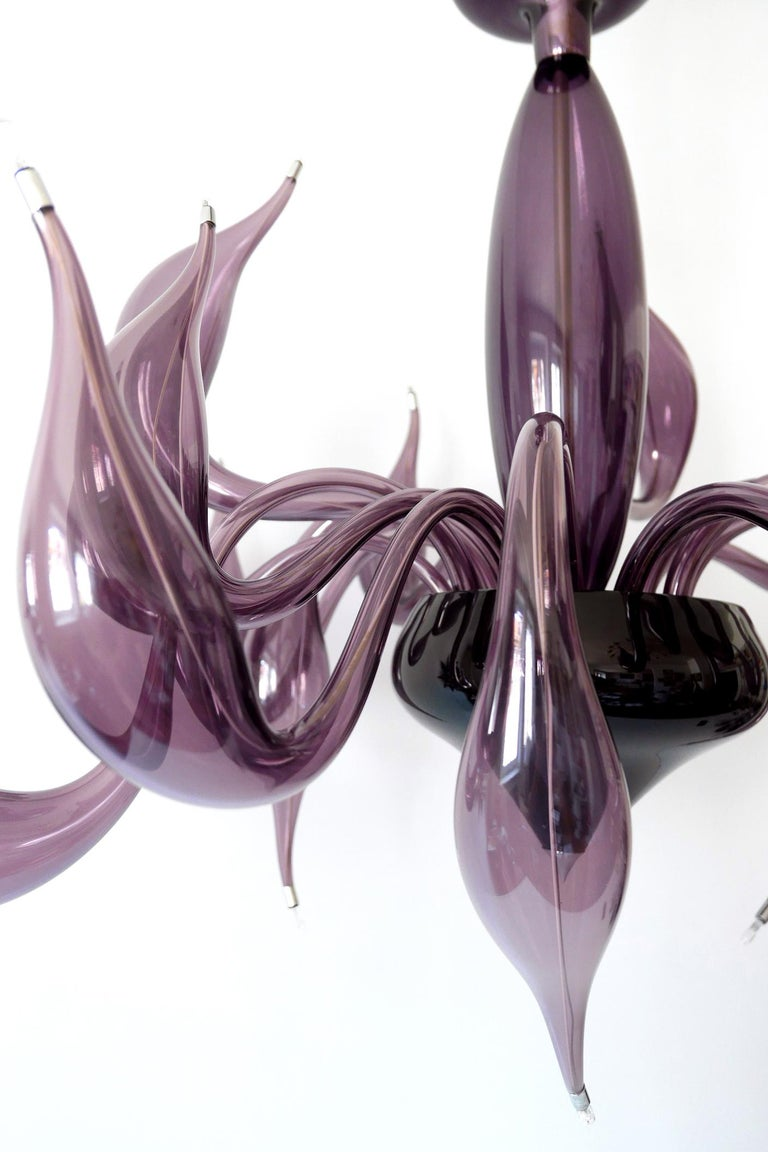 Sculptural Lu Murano Chandelier 18 Lights by Fabio Fornasier, 2004, Italy For Sale 8