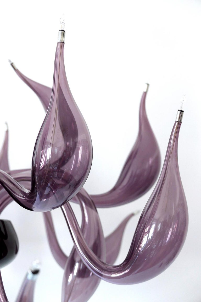 Sculptural Lu Murano Chandelier 18 Lights by Fabio Fornasier, 2004, Italy For Sale 9