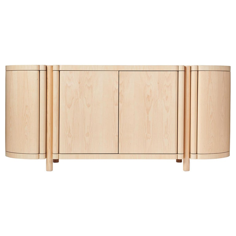 Sculptural Maple Credenza, Sideboard, or Console by Black Table Studio For Sale