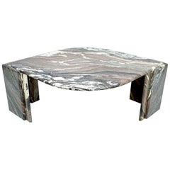 Sculptural Marble Coffee Table, Italy, 1970s