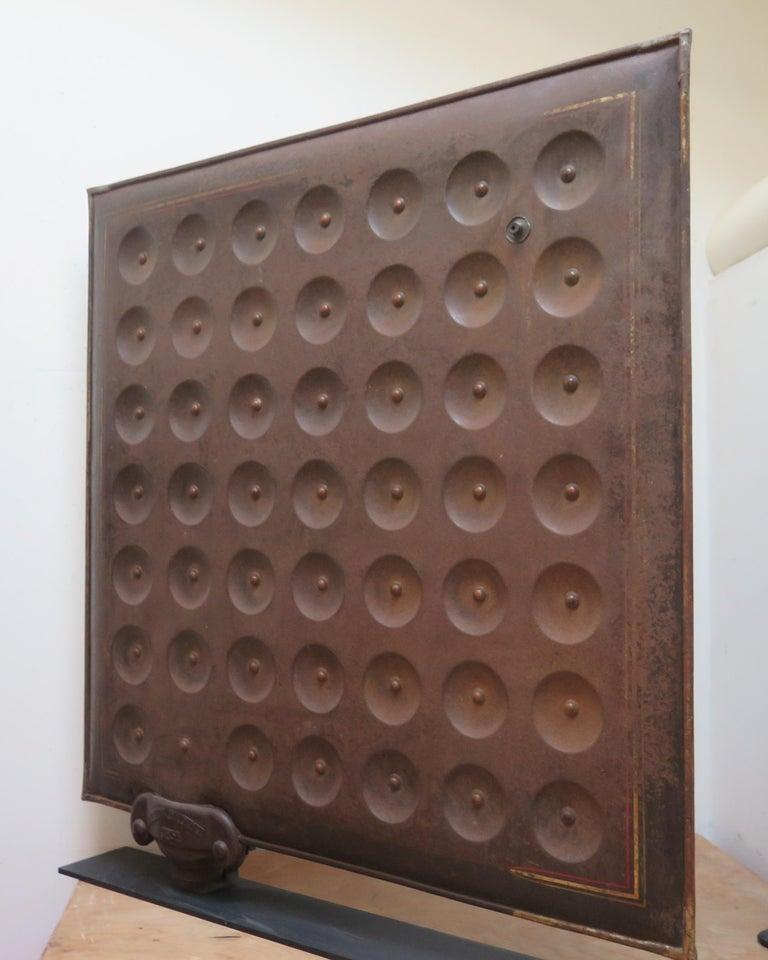 Industrial Sculptural Metal Radiator Patented, 1854 For Sale