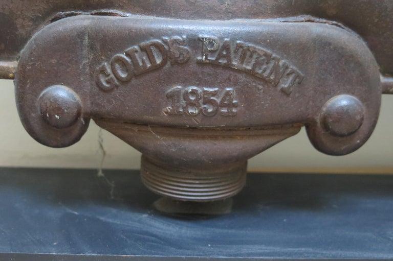 American Sculptural Metal Radiator Patented, 1854 For Sale