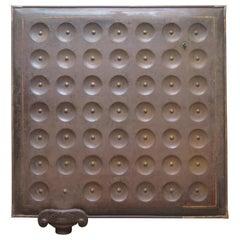 Sculptural Metal Radiator Patented, 1854