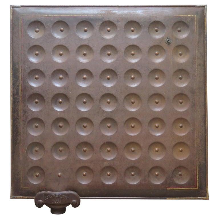 Sculptural Metal Radiator Patented, 1854 For Sale