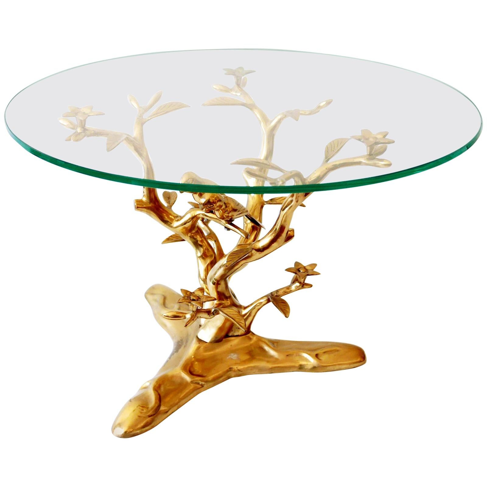 Sculptural Mid-Century Modern Brass Coffee Table by Willy Daro, Belgium, 1970s