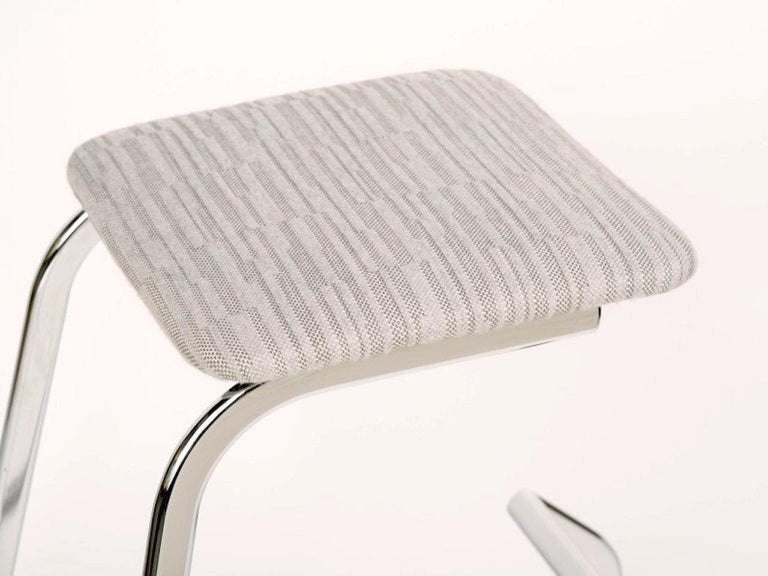 Mid-20th Century Sculptural Mid-Century Modern Counter Stools in Embossed Wool by Charles Stendig For Sale