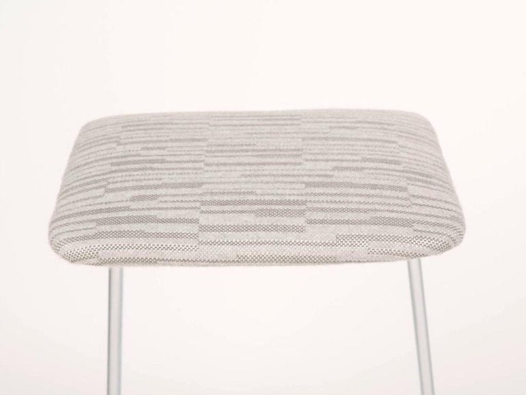 Sculptural Mid-Century Modern Counter Stools in Embossed Wool by Charles Stendig For Sale 1