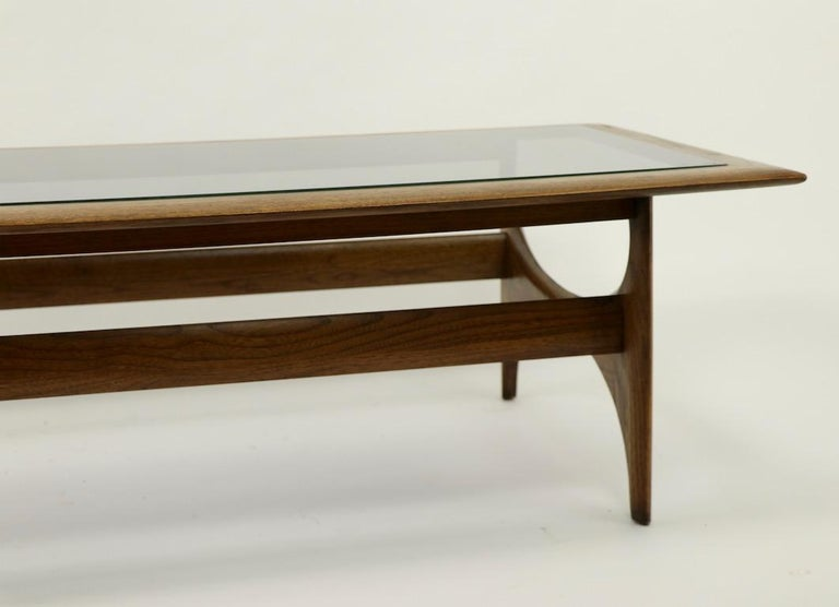 Sculptural Mid Century  Silhouette Coffee Table by Lane Furniture For Sale 3