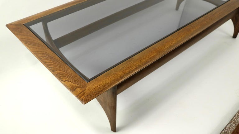 American Sculptural Mid Century  Silhouette Coffee Table by Lane Furniture For Sale