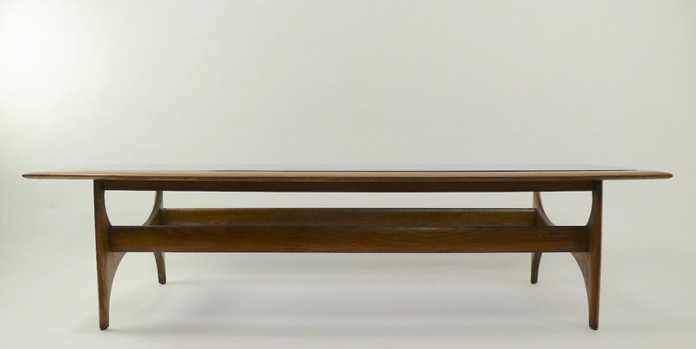 Wood Sculptural Mid Century  Silhouette Coffee Table by Lane Furniture For Sale