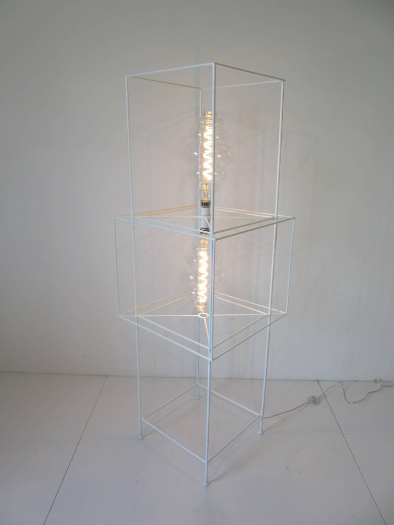 Mid-Century Modern Sculptural Midcentury Floor Lamp in the Style of Frederick Weinberg For Sale